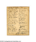 Autographs:Photos, 1925 Pittsburgh Pirates Team Signed Photograph. The Pride of Steeltown. Deacon McKechnie and his boys ran away with the Na...