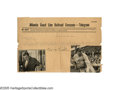 Autographs:Others, Circa 1929 Babe Ruth Signed Telegram. From the estate of aconductor for the Atlantic Coast Line Railroad comes this fascin...
