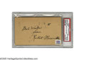 "Autographs:Post Cards, 1934 ""Rabbit"" Maranville Signed Government Postcard. Nearing theend of a Hall of Fame career, the Boston Braves middle infi..."