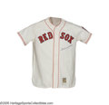 Autographs:Jerseys, Ted Williams Signed Jersey. Top quality Mitchell & Ness replica is a masterful duplication of the rookie Red Sox jersey wor...