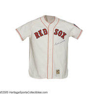 Ted Williams Signed Jersey. Top quality Mitchell & Ness replica is a masterful duplication of the rookie Red Sox jer...