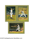 Autographs:Post Cards, Perez-Steele Great Moments Sets Lot of 3 with 116 Signed. Payingtribute to the beautiful style of the 1911 T3 Turkey Red c...