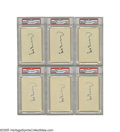 "Autographs:Index Cards, Hank Greenberg Signed Index Cards Lot of 6. The original ""Hammerin' Hank,"" this Hall of Fame slugger gave the Babe a big sc..."