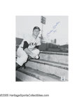 "Autographs:Photos, Mickey Mantle ""1961"" Signed Large Photograph. Another rare photographic image from the vaults of the Mickey Mantle Museum, ..."