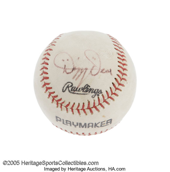 1960's Dizzy Dean Single Signed Baseball  The ringleader of the