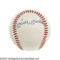 Autographs:Baseballs, Mickey Mantle & Ted Williams Signed Baseball. Fueling theYankees/Red Sox rivalry through the 1950's was thishard-slugging...