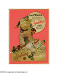 Baseball Collectibles:Others, Exceptional Circa 1928 Paul Waner Large Die-Cut Spalding Advertising Sign from the Sarabella Collection. This exceptionally...