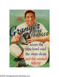 """Baseball Collectibles:Others, 1930's Ducky Medwick """"Granger Pipe Tobacco"""" Advertising Sign. Goneare the days when professional ballplayers would put any..."""