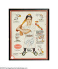 Autographs:Others, Joe DiMaggio Signed 1940 Hillerich & Bradsby Advertising Signfrom the Sarabella Collection. While similar signs issued in ...
