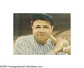 Baseball Collectibles:Photos, 1940's Disturbing Babe Ruth Oversized Photograph. One look at thisphotographic image of the Babe and it's clear why this p...