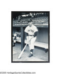 Baseball Collectibles:Photos, Enormous Mickey Mantle Rookie Photograph from the SarabellaCollection. Don't assume that the magnitude of this black and w...