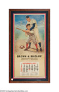 Autographs:Others, Tremendous 1957 Brown & Bigelow Calendar Signed by Joe DiMaggio from the Sarabella Collection. Another monumental piece fro...