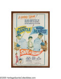 "Autographs:Others, Mickey Mantle & Roger Maris Signed 1962 ""Safe at Home"" Large Movie Poster from the Sarabella Collection. As scarce as is th..."