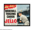 Autographs:Others, Mickey Mantle Signed 1962-63 Jello Advertising Poster from the Sarabella Collection. Tremendously rare and desirable in its...