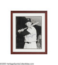Autographs:Others, Mickey Mantle Signed Large Rookie Photograph from the Sarabella Collection. The rather recent explosion in the Mantle autog...