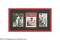 Autographs:Others, Mickey Mantle Dual-Signed Rookie Display from the SarabellaCollection. Take a trip back in time to 1951, when a twenty-yea...