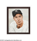 Autographs:Others, Joe DiMaggio Signed Original Pastel Portrait from the Sarabella Collection. It takes a true artist to capture a portrait so...