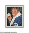Baseball Collectibles:Others, Tom Seaver Full Name Signed Original Artwork by Simon from theSarabella Collection. Large and masterful acrylic on canvas ...