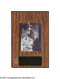 Autographs:Others, Joe DiMaggio Signed Hit Streak Display from the Sarabella Collection. A touching photo of the elderly DiMaggio admiring his...