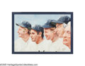Baseball Collectibles:Others, Mickey Mantle's New York Yankees Hall of Famers Original OilPainting from the Sarabella Collection. Fine oil on canvas by ...