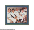 Autographs:Photos, New York Yankees Legends Signed Photograph from the SarabellaCollection. Just like old times, these four former Yankee gre...