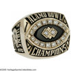 Football Collectibles:Others, 1998 Alamo Bowl Purdue University Championship Ring. In one of the years most dramatic Bowl games, Purdue drove eighty yard...