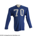 Football Collectibles:Uniforms, 1960 Willie McClung Game Worn Jersey. At 260 pounds in 1960, McClung was the largest man on the Detroit Lions' offensive li...