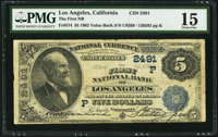 Los Angeles, CA - $5 1882 Value Back Fr. 574 The First NB Ch. # (P)2491