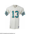 Football Collectibles:Uniforms, 1985 Dan Marino Game Worn Jersey. The earliest Dan Marino jersey we've ever handled, and certainly the finest as well. Thi...