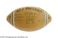 Football Collectibles:Balls, 1963 New York Giants Team Signed Football. Another number one finish in the NFL East for the Big Apple squad, and fifty of ...