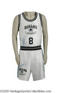 "Football Collectibles:Uniforms, 1991 Troy Aikman ""Dallas All-Stars"" Basketball Uniform. Perhaps the most desirable uniform out of the group, owned and oper..."