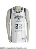 """Football Collectibles:Uniforms, 1991 Emmitt Smith """"Dallas All-Stars"""" Game Worn Basketball Uniform & Signed Basketball. The all-time leading yardage man put..."""