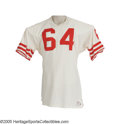Football Collectibles:Uniforms, Mid-1960's Dave Wilcox Game Worn Jersey from the Dave Wilcox Collection. A most unwelcome sight to any opponent unlucky eno...