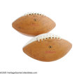 Football Collectibles:Balls, Late 1960's San Francisco 49'ers Team Signed Footballs Lot of 2 from the Dave Wilcox Collection. A pair of special autograp... (2 Items)
