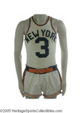 Basketball Collectibles:Uniforms, 1950's-60's New York Knicks Game Worn Uniform Collection. Findingjust a single uniform piece predating the Bill Bradley er...