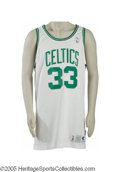 Basketball Collectibles:Uniforms, 1991-92 Larry Bird Game Worn Jersey. A thirteen-season Hall of Famecareer came to an end the season the great Larry Bird h...