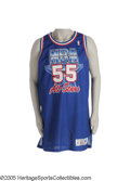 Basketball Collectibles:Uniforms, 1992 Dikembe Mutombo All-Star Game Worn Rookie Jersey. That'sright--it's an All-Star jersey and a rookie jersey, which sho...