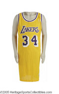 Basketball Collectibles:Uniforms, 1996-97 Shaquille O'Neal Game Worn Jersey. Continuing in thetradition that brought the greatest in basketball, from Wilt t...