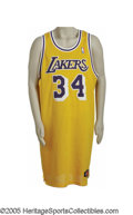 Basketball Collectibles:Uniforms, 1997-98 Shaquille O'Neal Game Worn Jersey. While certainly otherO'Neal representations have been offered at public sale, h...