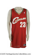 Basketball Collectibles:Uniforms, 2003-04 Lebron James Game Worn Rookie Jersey. History may provethis to be one of the most important basketball artifacts i...