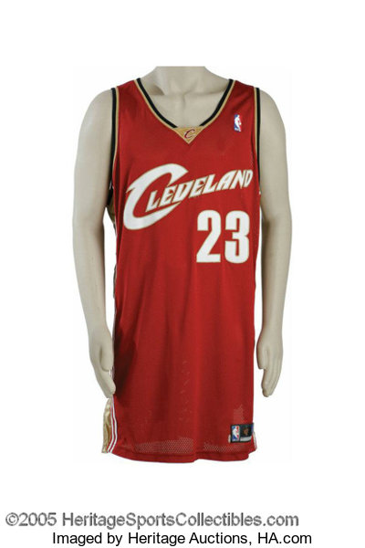 best service 00f0e 5ec77 2003-04 Lebron James Game Worn Rookie Jersey. History may ...