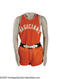 Basketball Collectibles:Uniforms, Early 1960's Marques Haynes Harlem Magicians Game Worn Uniform fromthe Marques Haynes Collection. While Marques Haynes had...