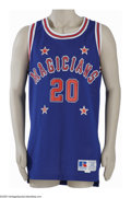 Basketball Collectibles:Uniforms, Late 1980's Marques Haynes Harlem Magicians Game Worn Jersey &Jacket from the Marques Haynes Collection. Dating from the 1...
