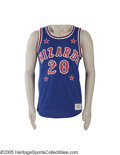Basketball Collectibles:Uniforms, Early 1980's Marques Haynes Harlem Wizards Game Worn Uniform fromthe Marques Haynes Collection. Dating to the early 1980's...