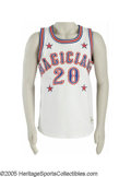 Basketball Collectibles:Uniforms, Late 1980's Marques Haynes Harlem Magicians Game Worn Jersey fromthe Marques Haynes Collection. In 1983, Marques Haynes mov...