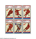Hockey Cards:Sets, 1954-55 Topps Hockey Complete Set (60). This inaugural Topps hockey issue represents the defining set from the golden era of...