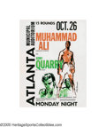 Boxing Collectibles:Memorabilia, 1970 Ali vs. Quarry Fight Program. Nine months after political pressures related to his boycott of the Vietnam draft forced...