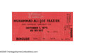 "Boxing Collectibles:Memorabilia, 1975 Ali vs. Frazier ""Thrilla in Manila"" Full Ticket. Tickets and programs from Ali's two great foreign bouts, Zaire's ""Rum..."