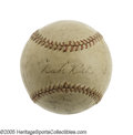 Autographs:Baseballs, 1922 New York Yankees Team Signed Baseball. It was the Yanks' lastseason rooming with the Giants at the Polo Grounds, and ...