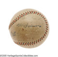 Autographs:Baseballs, 1927 New York Yankees Team Signed Baseball. Depending upon your frame of mind, you can either blame or thank Mark Koenig fo...